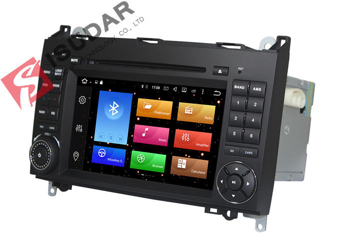 Built In Radio Tuner Isudar Mercedes Benz Car DVD Player For B200 Heat Dissipation