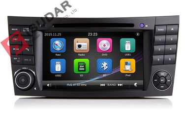 Auto Radio Double Din Gps Car Stereo, Mercedes E Class Dvd Player Wbudowany port SD